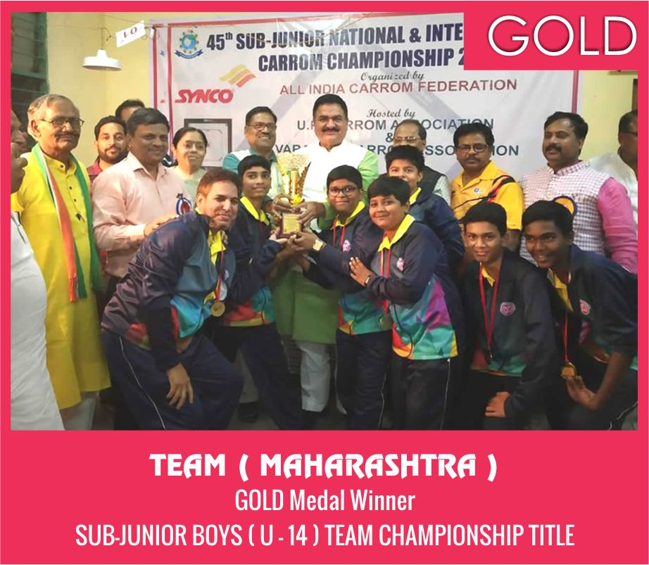 TEAM ( MAHARASHTRA ) BOYS ( U-14 ) TEAM CHAMPIONSHIP TITLE GOLD MEDAL WINNER